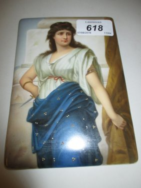 Late 19th Century Berlin Type Porcelain Plaque With