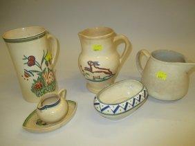 Six Various Items Of Ashtead Pottery
