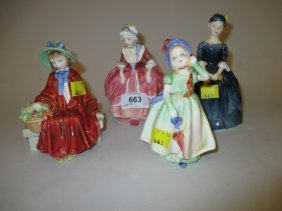 Group Of Four Small Royal Doulton Figures, ' Babie ', '
