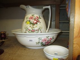Early 20th Century Bristol Pottery Floral Decorated Jug