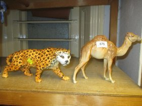 Beswick Figure Of A Camel And Another Of A Jaguar