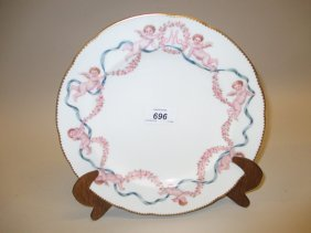 Minton Porcelain Wall Plate With Hand Painted Border