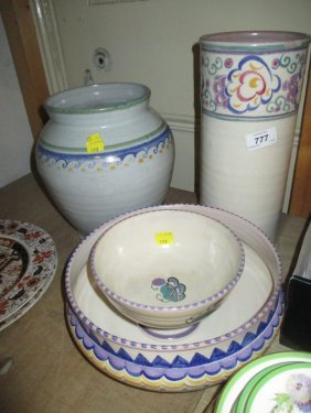 Four Carter Stabler Adams Poole Pottery Items (with