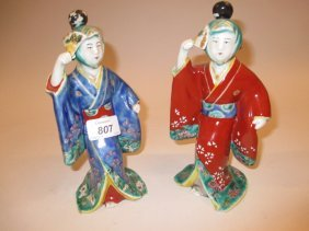 Pair Of Early 20th Century Chinese Porcelain Figures,