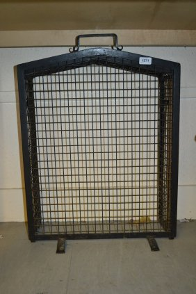 20th Century Wrought Iron Spark Guard