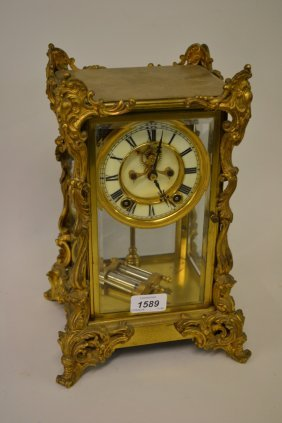 Late 19th Or Early 20th Century French Gilt Brass Four