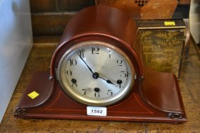 Early 20th Century Mahogany Dome Shaped Mantel Clock
