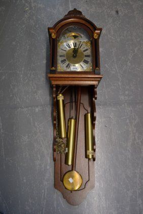 Reproduction Dutch Style Wall Clock With A Three Train
