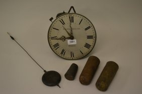 William Iv Hook And Spike Wall Clock By Whitehurst And