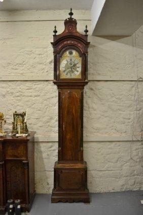 George Iii Mahogany Longcase Clock, The Broken Arch