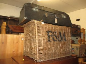 Large Fortnum & Mason Wicker Travelling Hamper And A