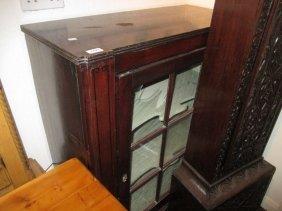 Regency Mahogany Single Door Side Cabinet Having Bar