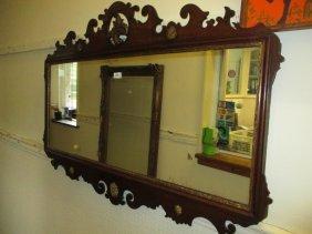 18th Century Mahogany Rectangular Fretwork Mirror