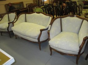 Mid 20th Century French Style Carved Beechwood Three