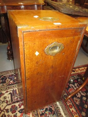 Pair Of 19th Century Teak And Brass Mounted Military