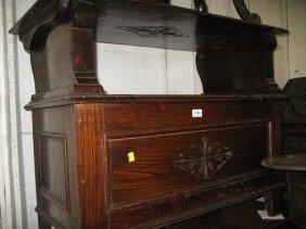 Early 20th Century Oak Monks Bench