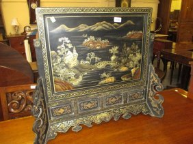 20th Century Chinese Chinoiserie Lacquered And Ebonised