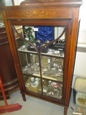 Late 19th Century Mahogany Display Cabinet With Line
