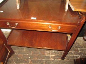 Mahogany Tray Top Trolley Table Together With A