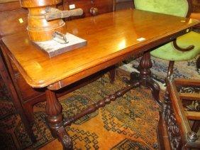 Victorian Rectangular Mahogany Centre Table Raised On