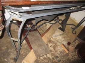 Rectangular Wrought Iron Garden Table Base