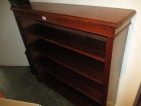 Edwardian Walnut Open Bookcase With Adjustable Shelves