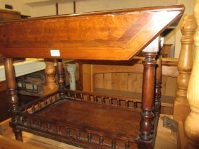 19th Century Drop-leaf Occasional Table Having Pen Work