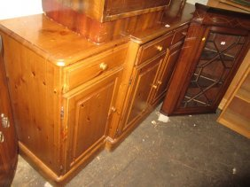 Ducal Reproduction Stripped Pine Side Cabinet