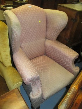 Early To Mid 20th Century Upholstered Wing Armchair In