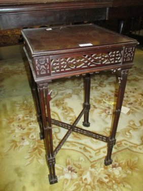 Reproduction Mahogany Kettle Stand In Chinese