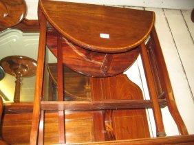 Edwardian Oval Mahogany And Satinwood Crossbanded