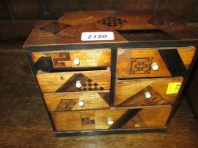 Japanese Parquetry Inlaid Table Cabinet