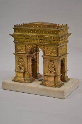 Unusual 19th Century French Gilt Bronze Model Of The