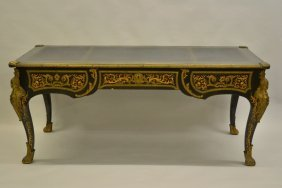 19th Century French Ebonised Marquetry Inlaid And