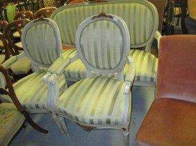 20th Century Continental Painted Three Piece Salon
