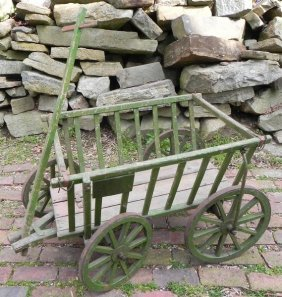 Early Green Wooden Wagon 45