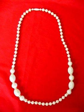 Carved Bone Necklace