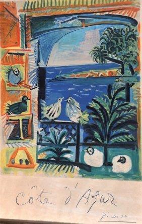 Pablo Picasso (1881-1973) Spanish. �Cote D�Azur�,