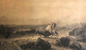 Albert Bierstadt (1830-1902) American. �The Last Of The