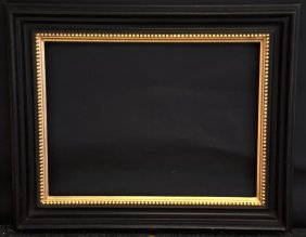 20th Century Dutch Style. A Black And Gilded Frame, 16�