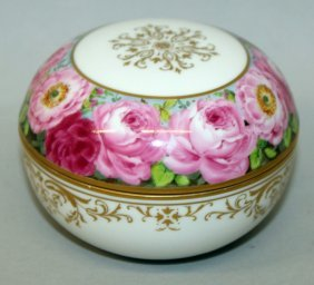 A Meissen Circular Box And Cover, 3