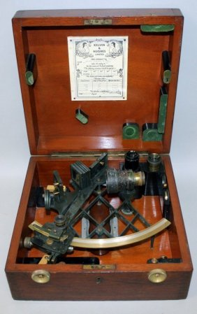A Cased Sextant By H. Hughes & Sons Ltd, 59 Fenchurch