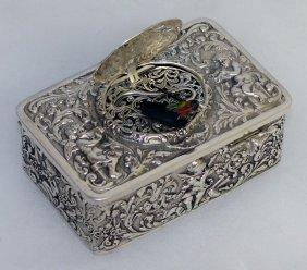 A Good Continental .925 Silver Singing Bird Box Of