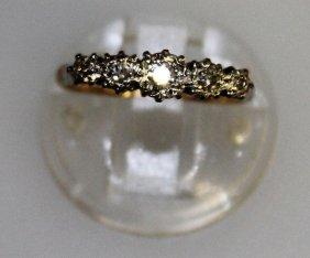 An 18ct Gold Five Stone Diamond Ring.