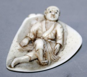 An Unusual Early 20th Century Signed Japanese Ivory