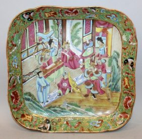 A 19th Century Chinese Canton Porcelain Dish, Of
