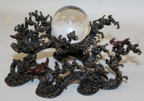 A Japanese Meiji Period Scholars 'crystal Ball' &