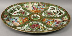 A Large 19th Century Chinese Canton Oval Porcelain