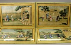 A Good Set Of Four 18th Century Framed Chinese