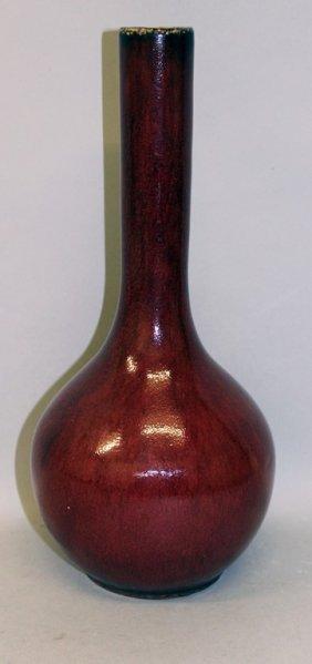 A Chinese Flambe Glazed Porcelain Bottle Vase, The